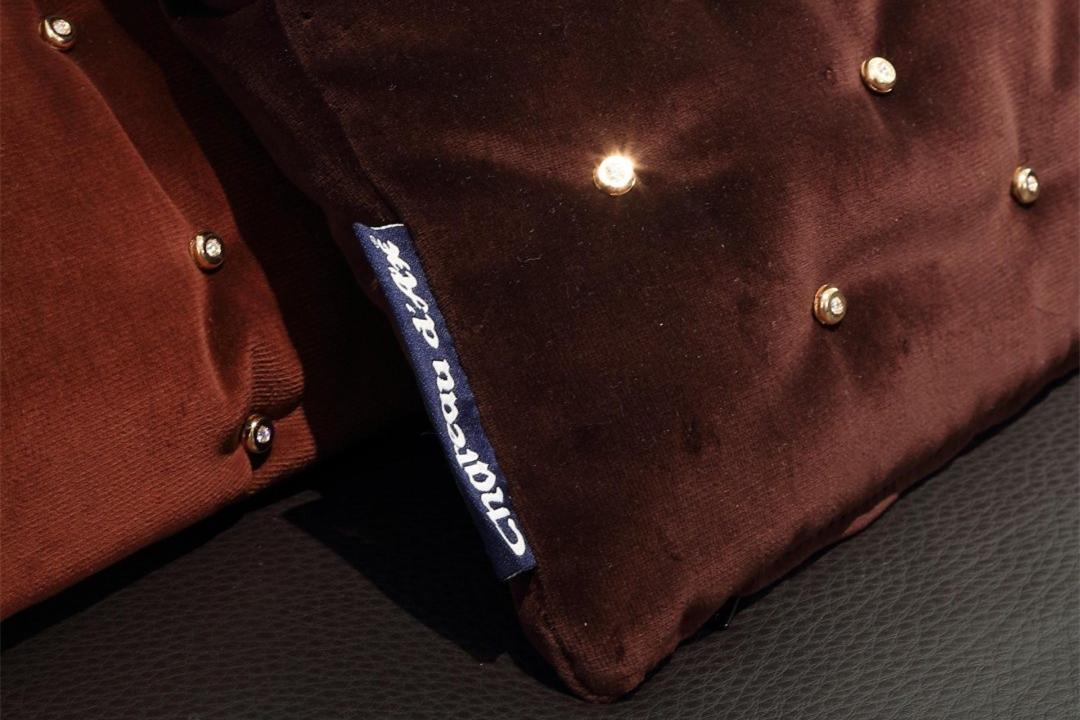 工艺也镶金镶钻!意大利奢华枕头家具Cha家具制造品牌图片