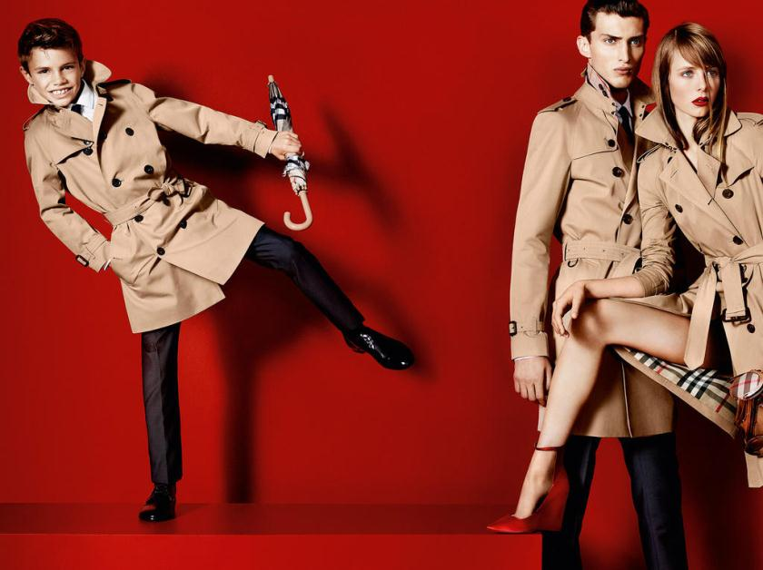 Burberry trench coat ads