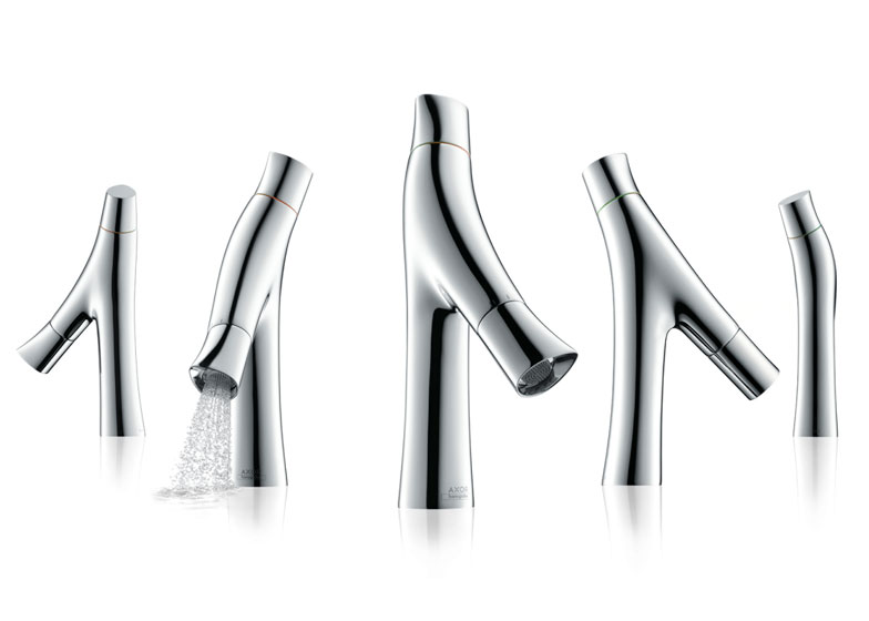 """可节水一半的""""有机""""水龙头 by Philippe Starck"""