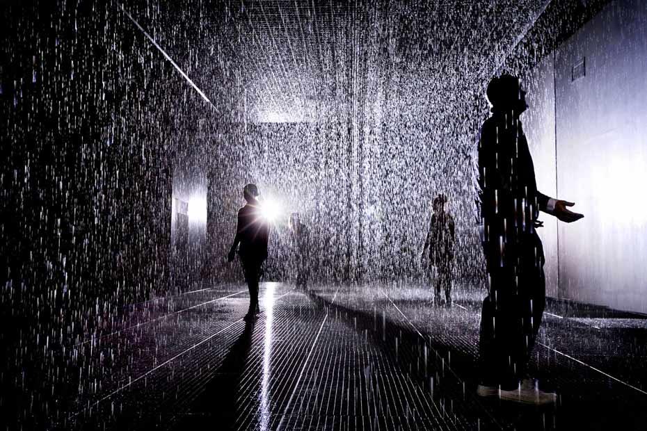 不会湿身的雨屋