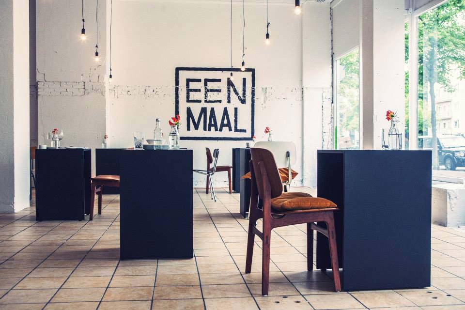一个人的正餐: 世界上首家单人桌餐厅 Eenmaal
