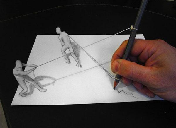 眼见不为实-高超的3D素描艺术