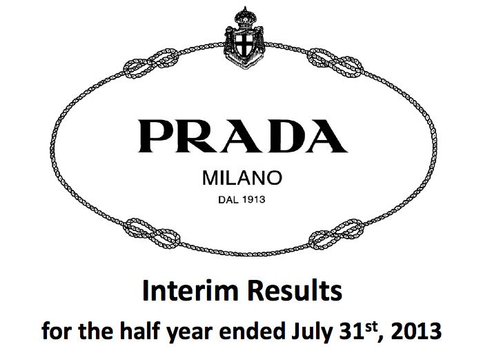 Prada 发布2013年上半年完整财报
