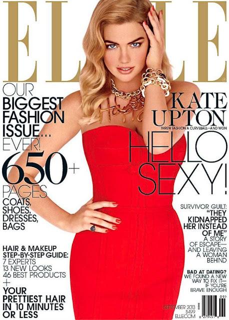 Kate Upton for Elle US September 2013 Cover