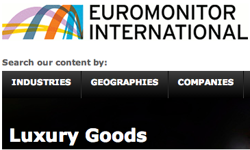 Euromonitor 2013年奢侈品报告精选
