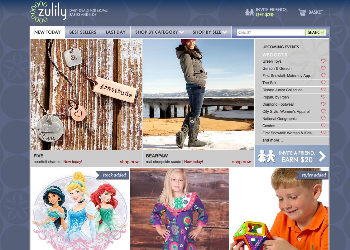 母童时尚闪购网站Zulily 递交上市申请