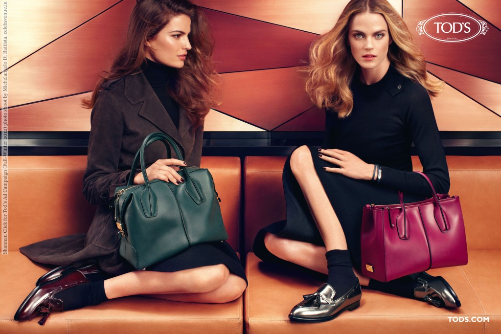 Shannan Click for Tod's Ad Campaign (Fall-Winter 2012) photo shoot by Michelangelo Di Battista