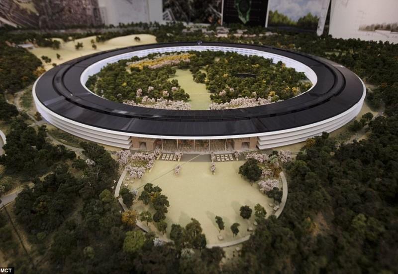 苹果总部新办公区设计效果图曝光-拥抱未来,回归自然