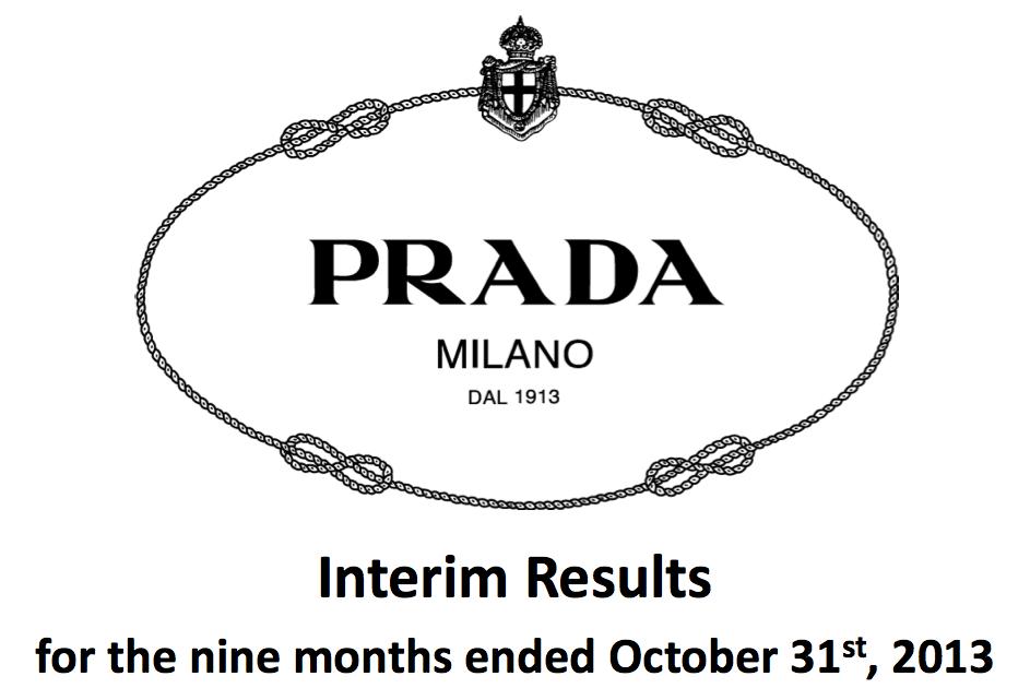Prada 发布2013年第三季度财报