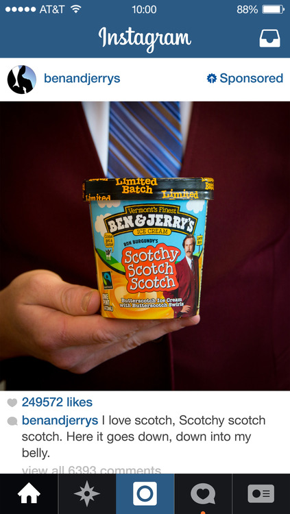 Ben Jerry Instagram