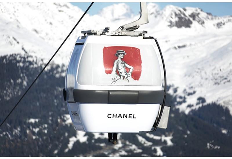 Chanel 滑雪缆车现身阿尔卑斯