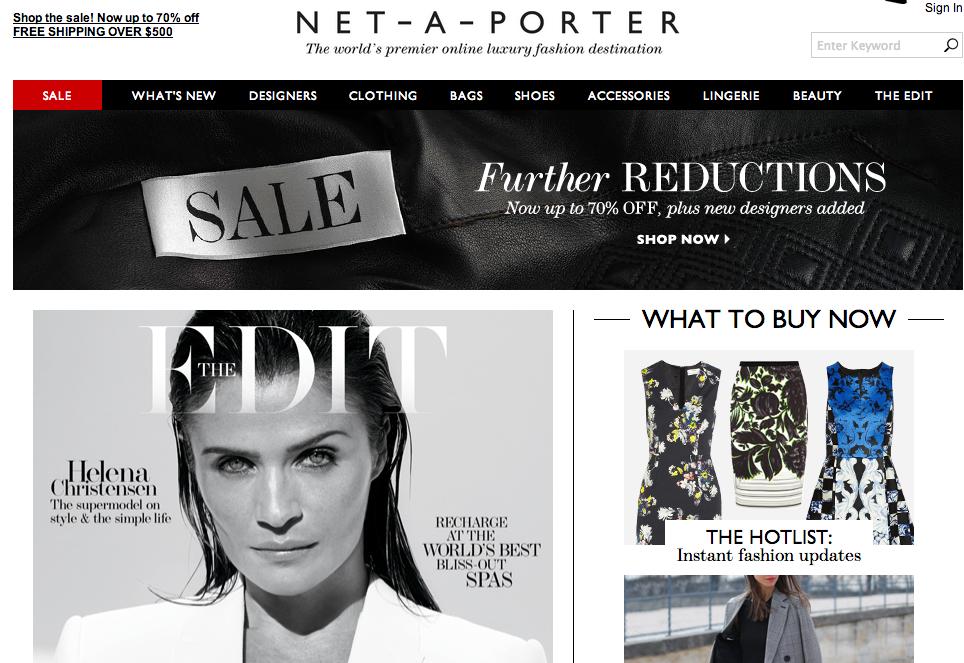 奢侈品电商 NET-A-Porter 上财年销售增速放缓,亏损收窄