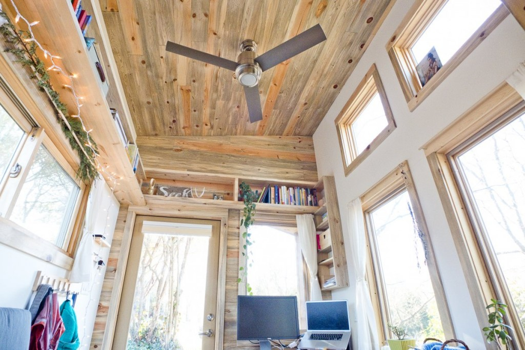 the-house-doesnt-feel-cramped-thanks-to-the-tall-13-foot-ceilings-theres-also-a-ceiling-fan-for-when-it-gets-hot-and-the-gorgeous-ceiling-was-made-from-sustainably-harvested-blue-stain-beetle-kill-pine