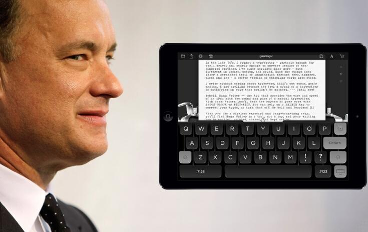 影帝Tom Hanks 的又一复古情怀之作——打字机APP