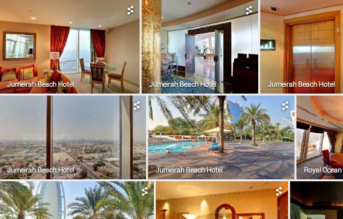 通过谷歌地图预览/挑选你的度假酒店