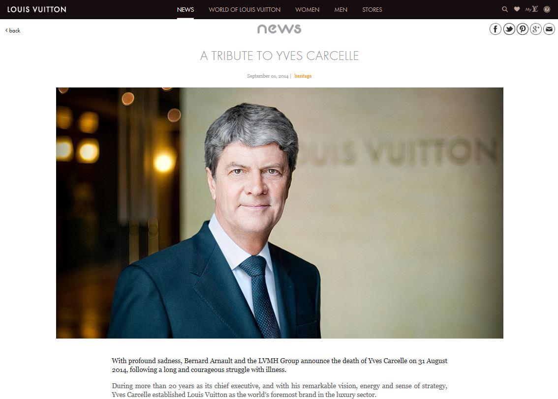 Louis Vuitton 第一功臣Yves Carcelle 去世