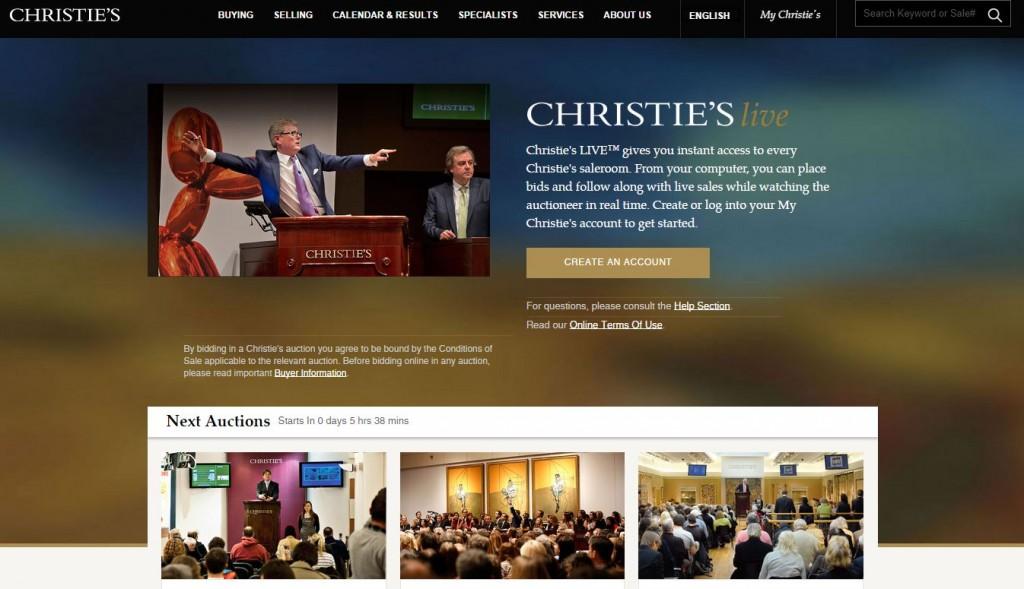 Chiristie's online auction