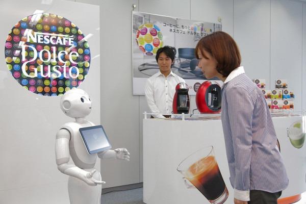 雀巢公司雇佣机器人销售咖啡机