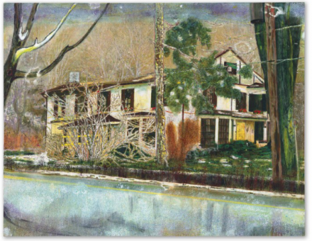 Peter-Doig-Pine-House-Rooms-for-Rent-1994-via-Christies-440x340