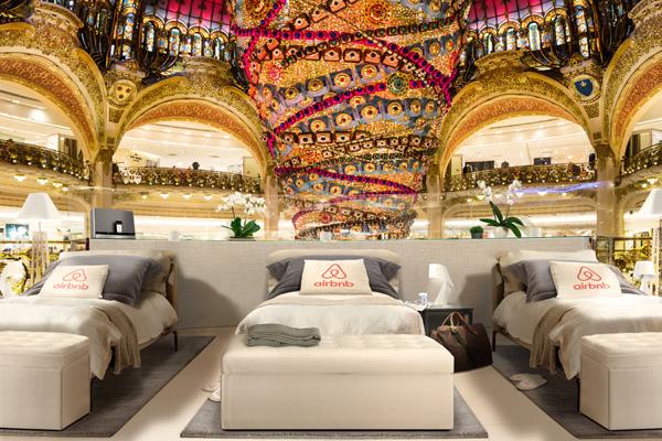Airbnb 邀你来老佛爷百货睡一晚