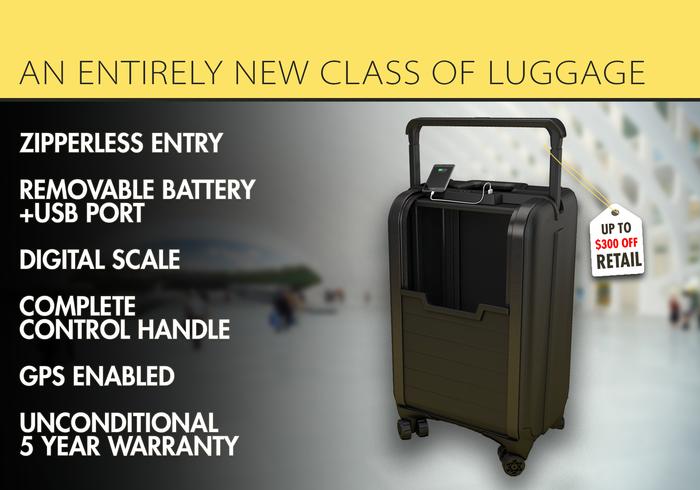 能自动关门的智能无拉链行李箱 旅行苦主的大救星来了?