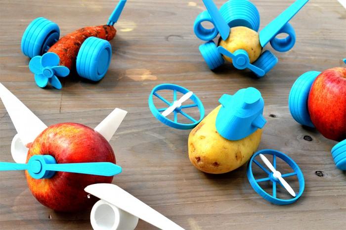 3D打印小零件 变蔬果为玩具