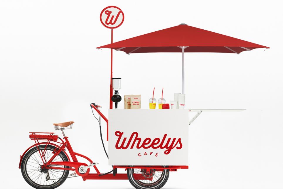 """星巴克的挑战者:""""车轮上的咖啡馆"""" Wheelys Cafe"""