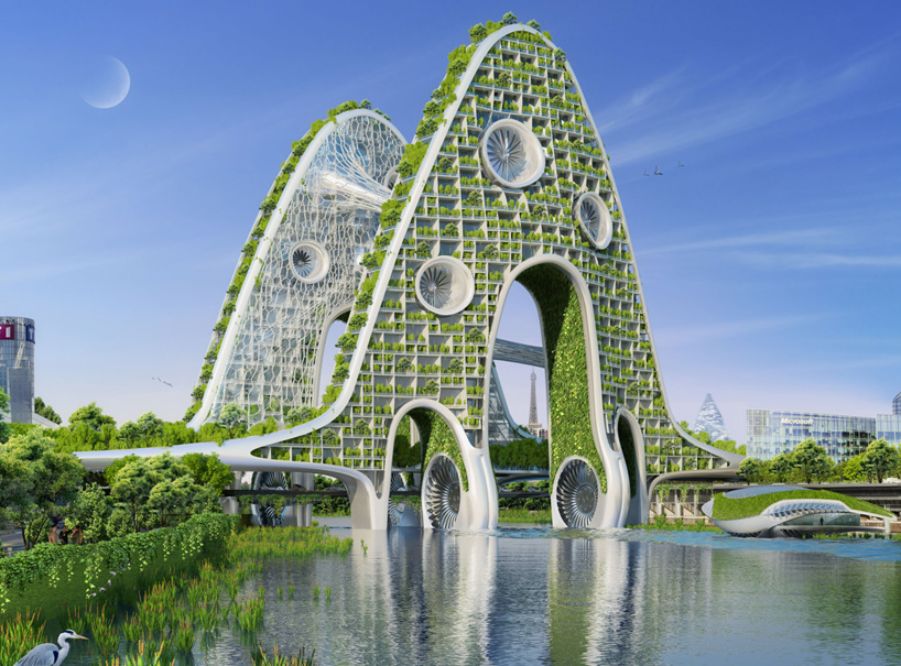 8座绿植铺满的奇妙建筑!巴黎智能城市设计出炉