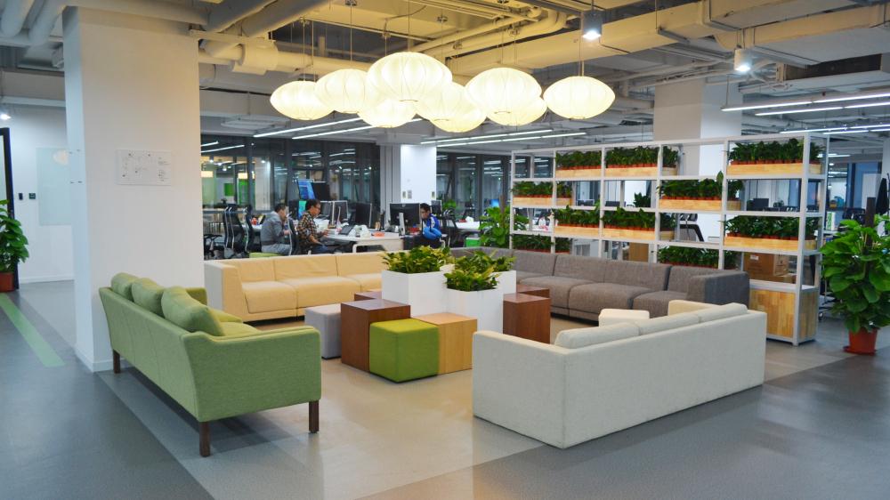 豌豆荚新办公空间 大区域休闲