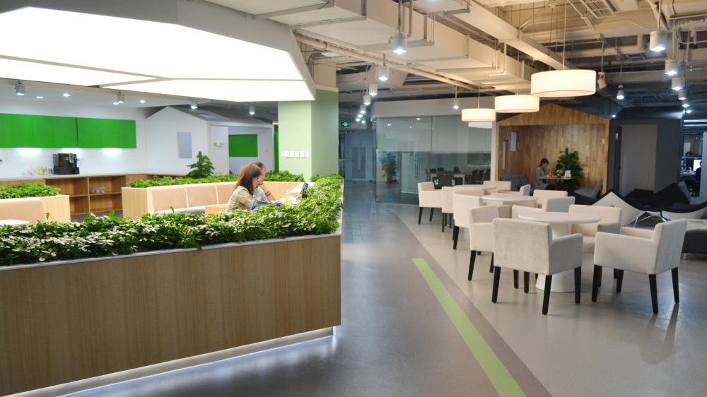 豌豆荚新办公空间 核心休闲小房子洽谈