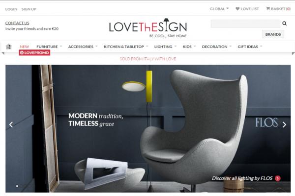 意大利家居电商初创公司 Lovethesign 获 400万美元 A 轮融资