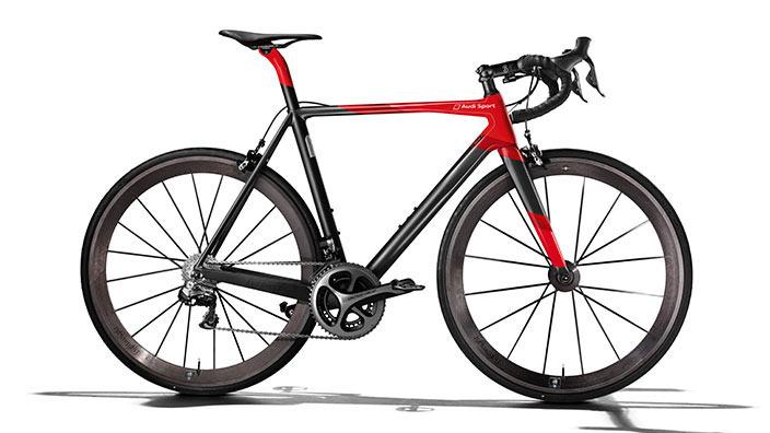 奥迪牌定制自行车:框架比Mackbook Air 都轻!