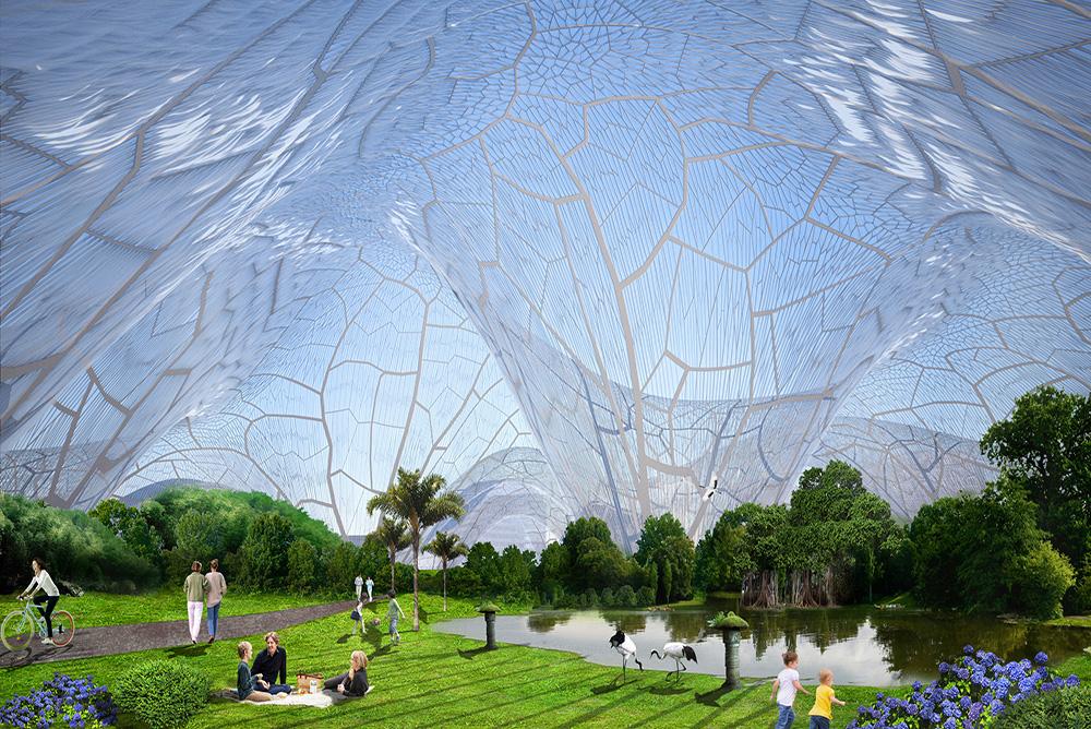 空气污染避难所:一个巨无霸的城市大泡泡