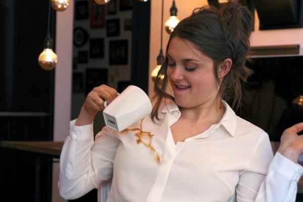 史上最无敌的白衬衫:咖啡果汁全不怕!