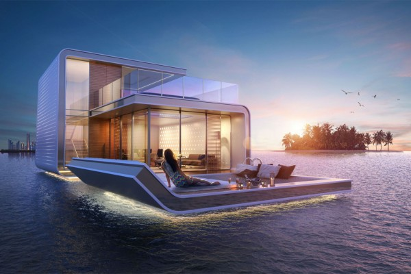 在无敌海景中入眠,迪拜房产商打造奢华漂流别墅