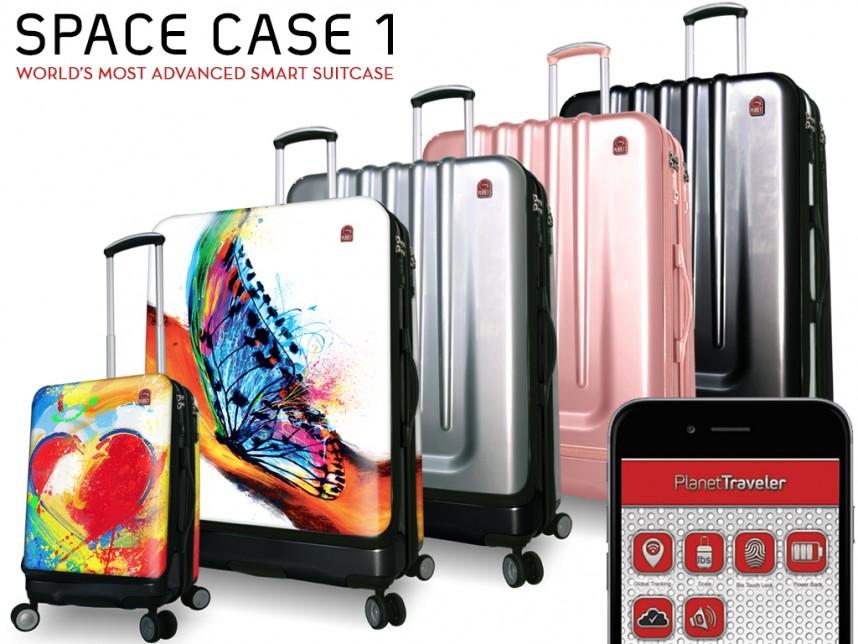可以指纹解锁的智能旅行箱:Space Case 1