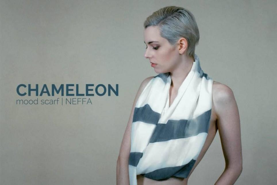 魔幻新服饰:Chameleon 围巾随温度、光线而变幻色彩