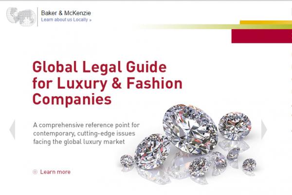 Baker & McKenzie 发布《时尚和奢侈品公司全球法律指南》,称属于亚洲的消费时代已经来临