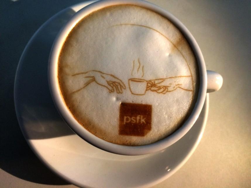 咖啡拉花大师要失业了?3D 咖啡打印机让你轻松打造个性咖啡图案