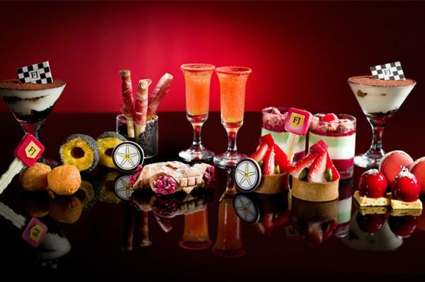香港 Ritz-Carlton 酒店推出法拉利红色下午茶