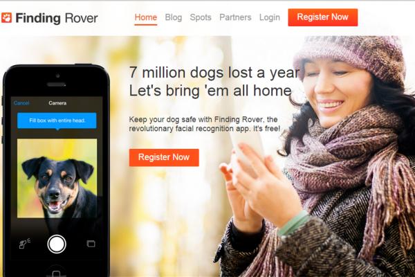 Finding Rover:内置面部识别软件,精准率高达 98%的宠物狗寻回 App