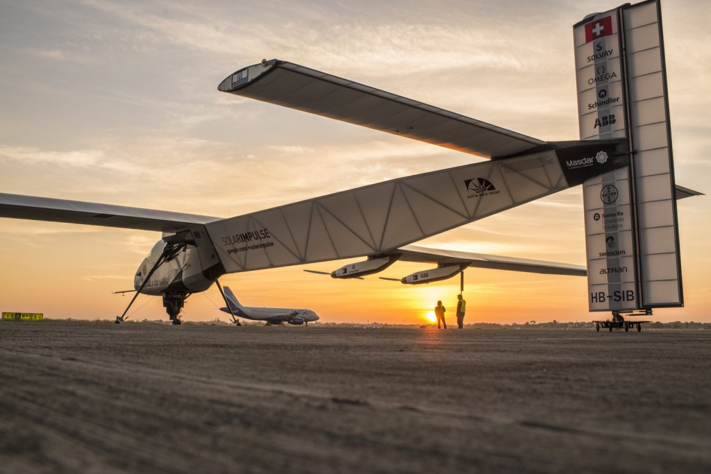 Solar Impulse take-off from Ahmedabad to Varanasi
