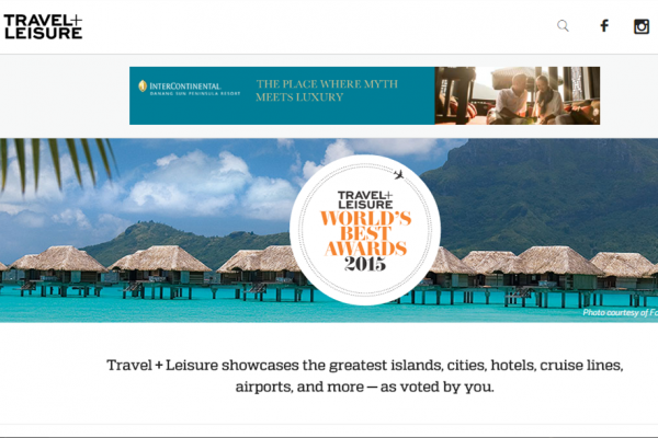 《悦旅Travel+Leisure》2015年度全球 5佳旅行社