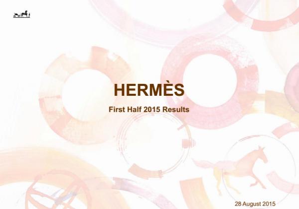 Hermès 今年上半年完整财报,营业利润同比增长 20%