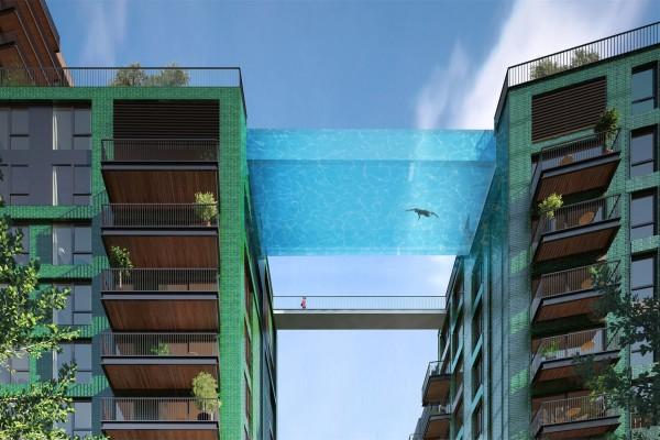 全球首座全透明天空泳池落户伦敦