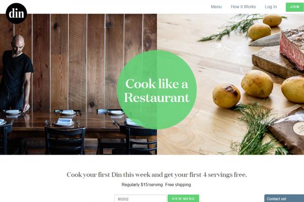 在家也可做出高档餐厅的菜!新创食材配送公司 Din 融资300万美元