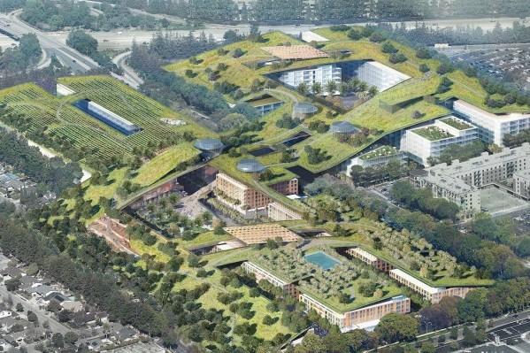 """硅谷废弃商场将变身世界最大""""屋顶公园"""",步道长达6公里,还有葡萄园"""