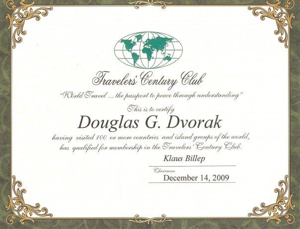 travelers-century-club-award