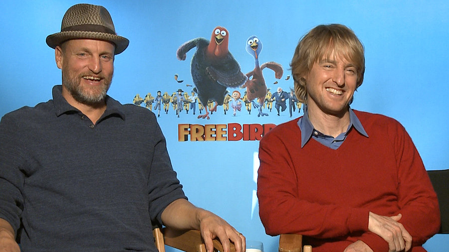 Woody-Harrelson-Owen-Wilson-Free-Birds-Interview