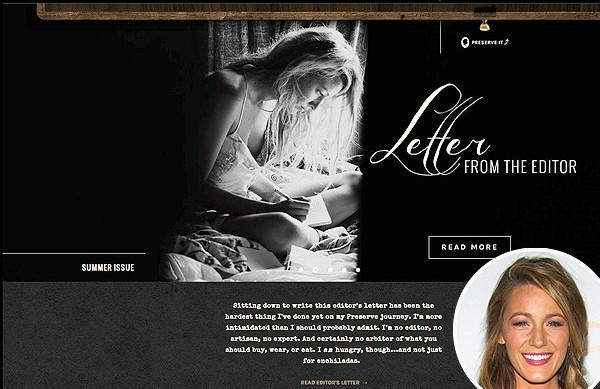 Blake Lively 个人生活方式网站 Preserve 将关闭,新创业项目酝酿中